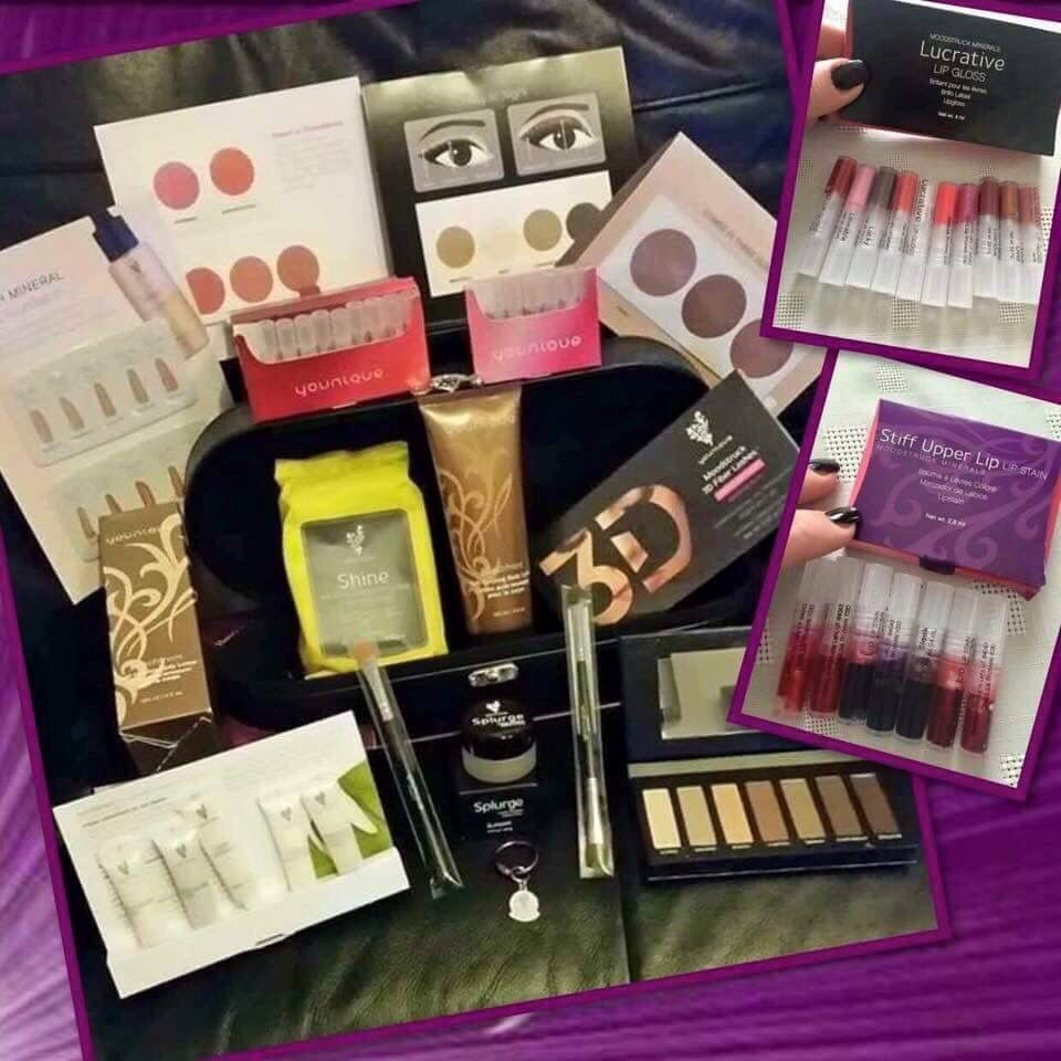 Have you been dreaming of running your own business? Working from home? Getting paid to play with makeup and take selfies?! If so, don't miss out on Younique's unbelievable Presenter's Kit that includes all you see here for $99! (A $225 Value!!) You also receive your own Website where you'll have instant access to Younique's Virtual Party System! PLUS... Once your commissions reach $50, you get your own Younique Debit Card!