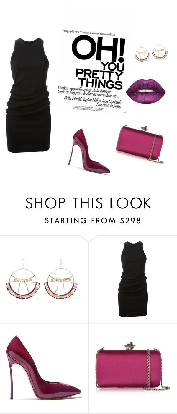 """Untitled #50"" by elmaa11 ❤ liked on Polyvore featuring Scosha, DRKSHDW, Casadei and Roberto Cavalli"