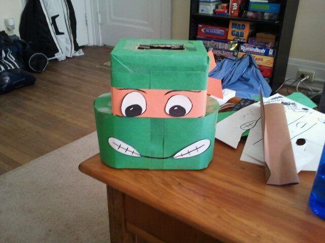Homemade Ninja Turtle Valentine Box Bing Images Party