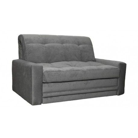 York Sofa Bed With Fully Upholstered Arm Rests Storage Drawer Compact