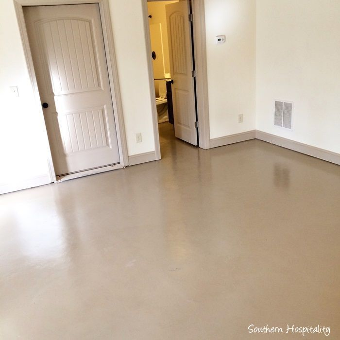 How To Paint A Concrete Floor Southern Hospitality Painted Concrete Floors Flooring Concrete Stained Floors