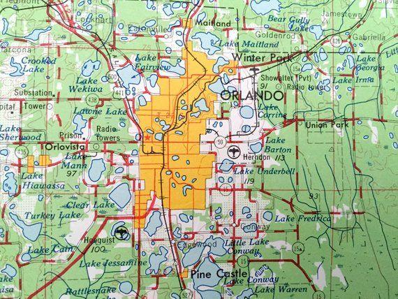 Orlando Florida On Us Map.Antique Orlando Florida 1962 Us Geological Survey Topographic Map