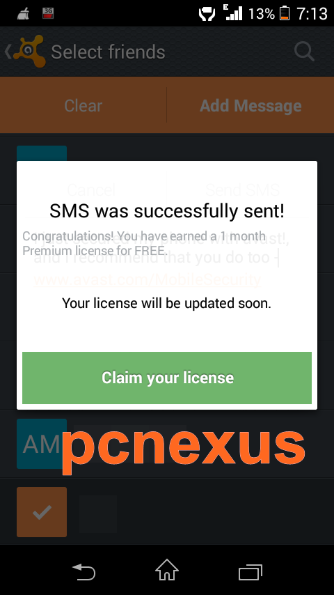 how to update avast mobile security