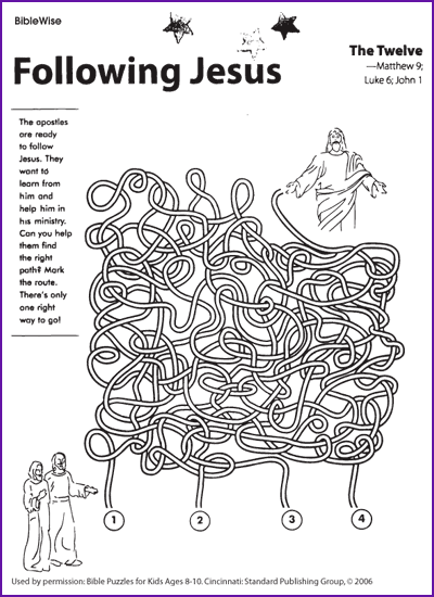 Coloring Pages For Following Jesus. Following Jesus  The Disciples Maze Kids Korner BibleWise 12