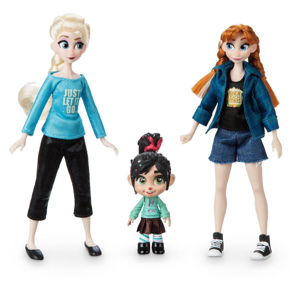 Vanellope With Anna And Elsa Mini Doll Set Ralph Breaks The Internet Disney Princess Dolls American Girl Doll Movies Disney Princess Art