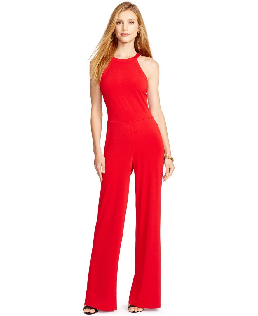 82f7fbc63cc8 Lauren Ralph Lauren Petite Jersey Jumpsuit