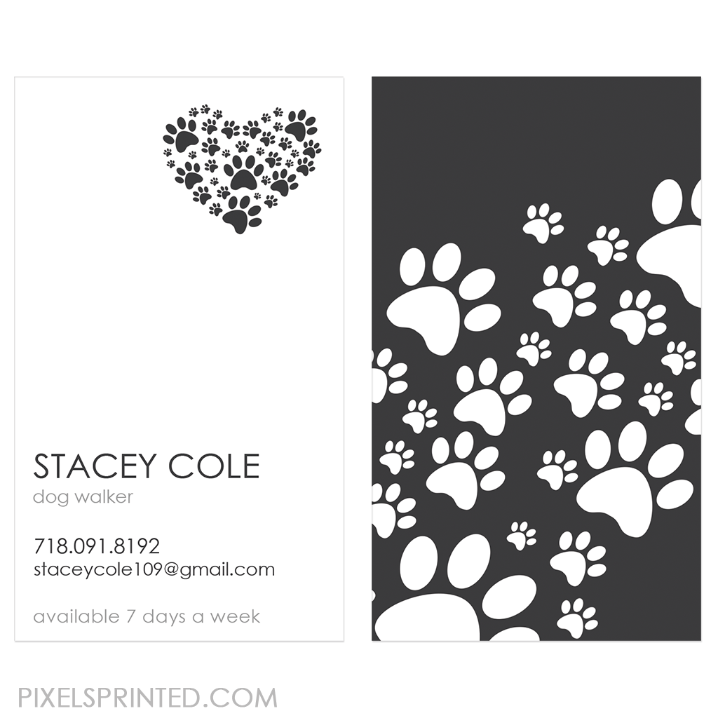 dog walker business cards | Things to make / products | Pinterest ...