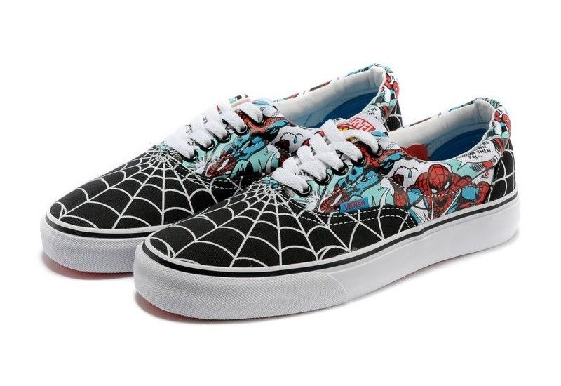 1a36f1034e5816 Vans Shoes Black White Era Spider-Man Womens Mens Canvas Sneakers ...