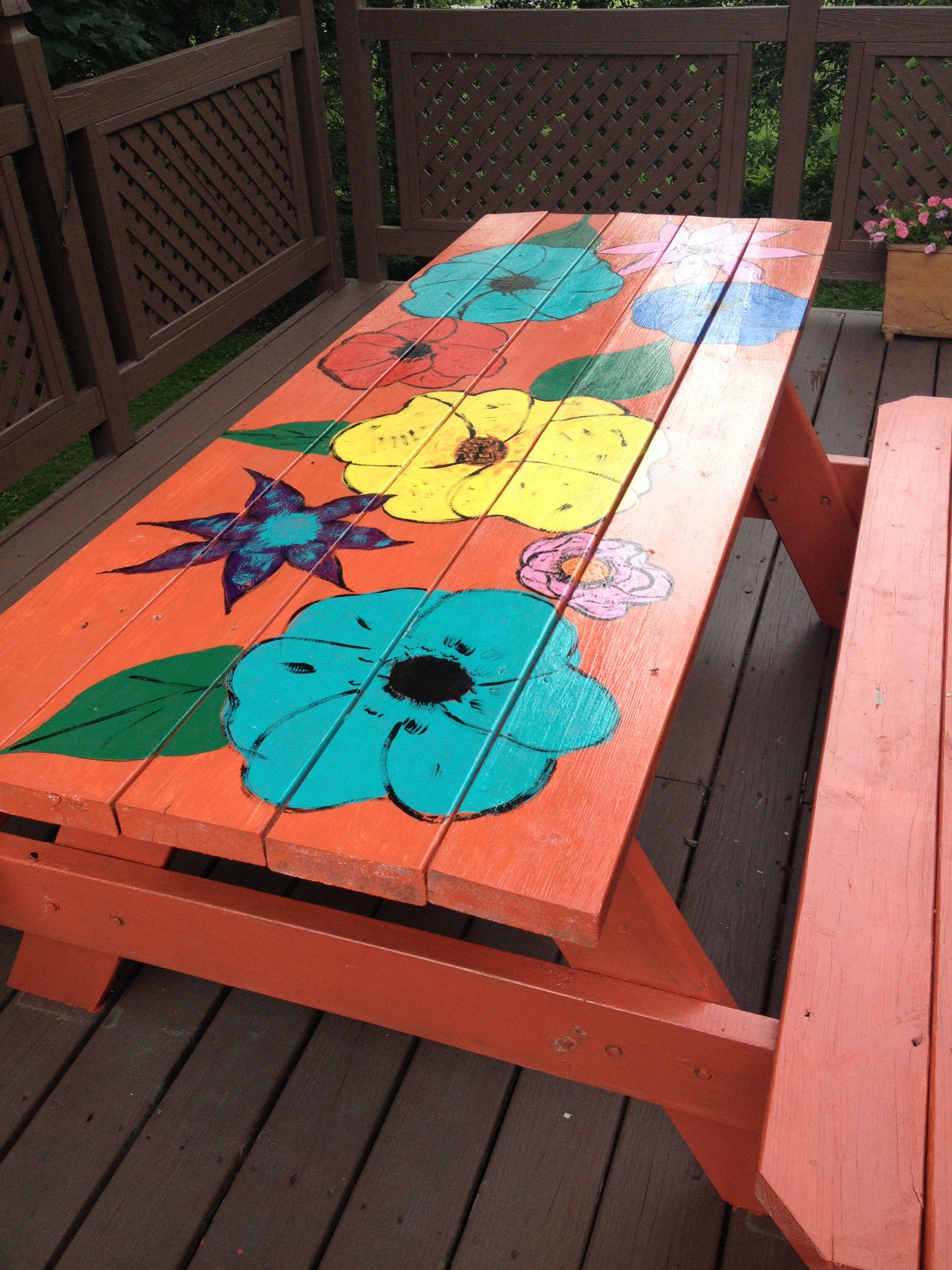 Awesome picnic table makeover kids picnic table