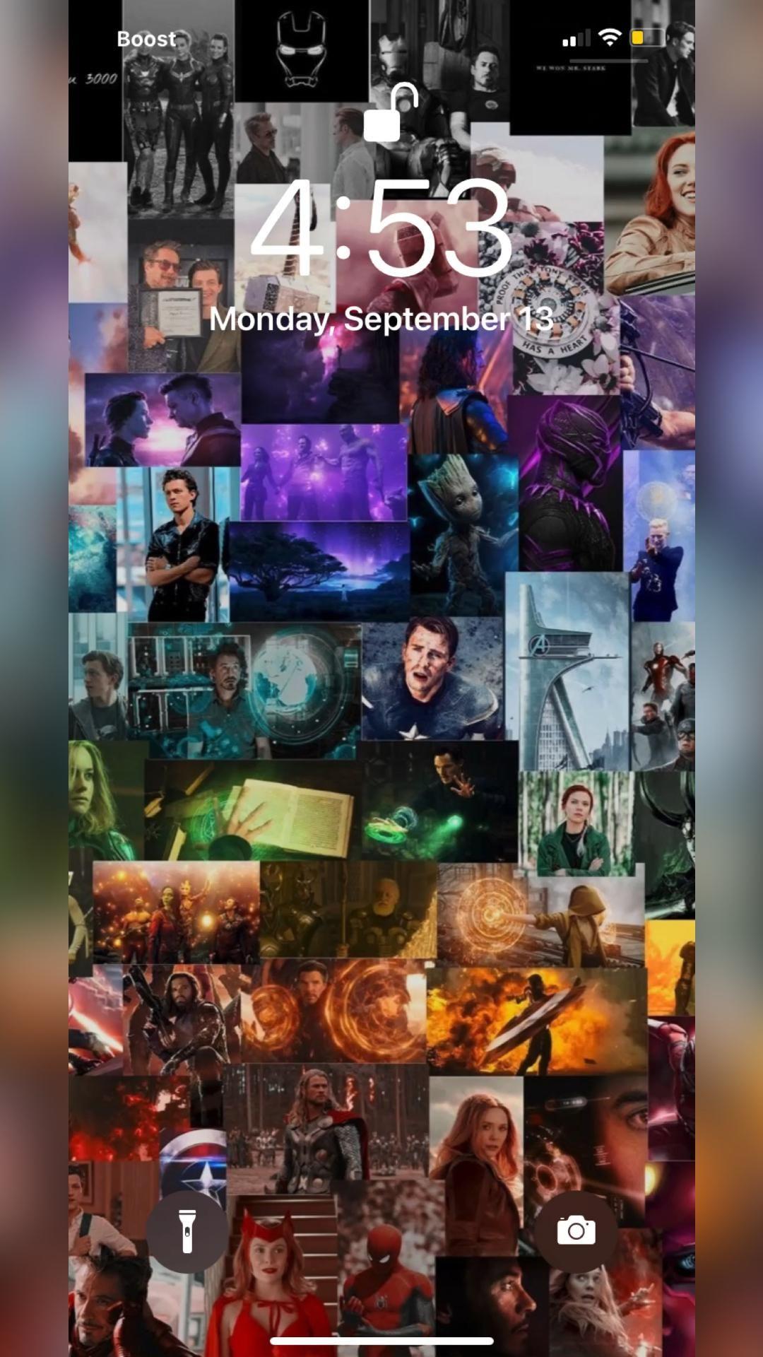Marvel Avengers IPhone Color Widget Idea Lock Screen/Wallpaper