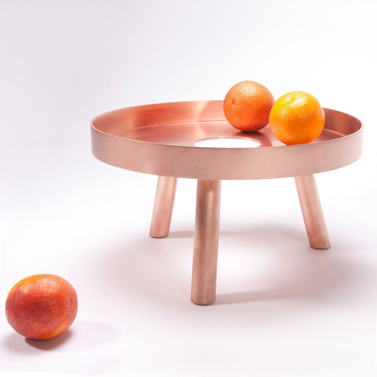 Lift Serving Tray by fferrone design. Brushed copper, made in USA, 12x12x7. $360