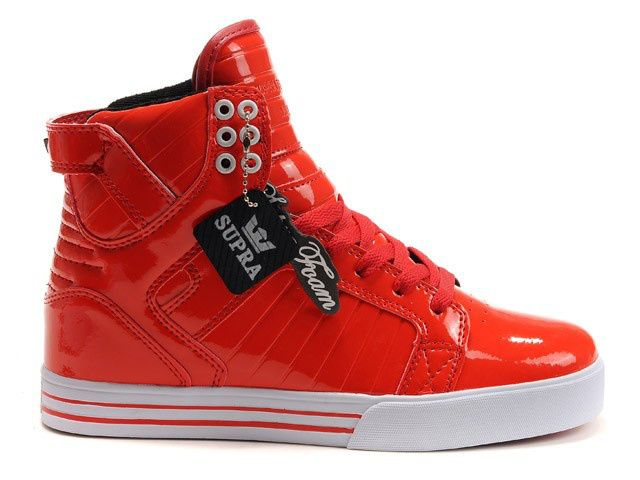 Supra Skytop Bright Red White Shoes Men's Shoes