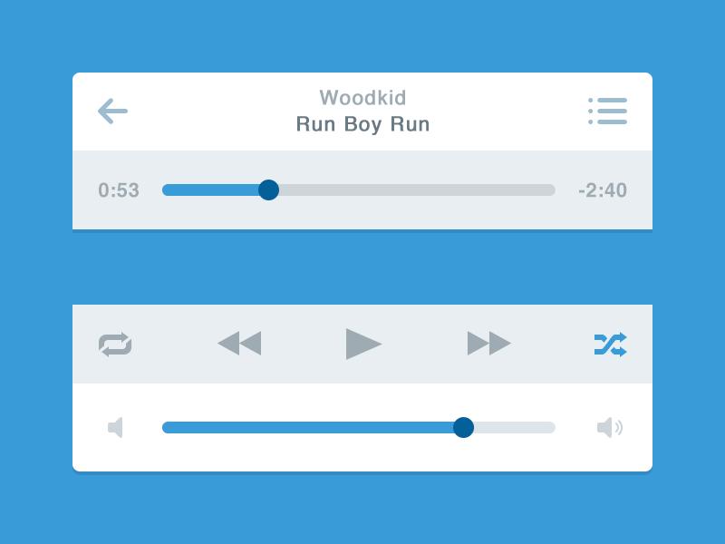 Flat Music Player (iOS) #ui #flat #design #interface #player