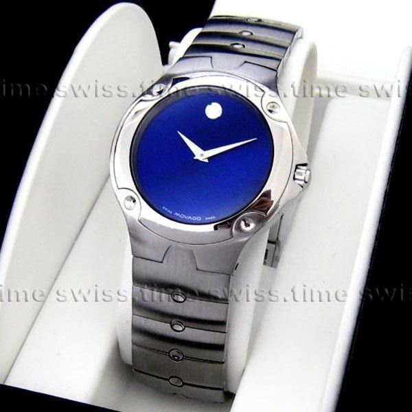 ba3533977bea1 Men s Movado SPORTS EDITION SE Blue Sapphire Dial Swiss Quartz Watch ...