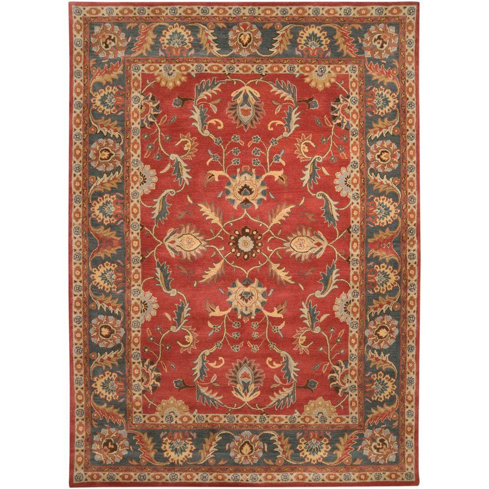 Artistic Weavers John Rust Red 12 Ft X 15 Ft Area Rug Jhn 1007 The Home Depot Area Rugs Rugs Square Area Rugs