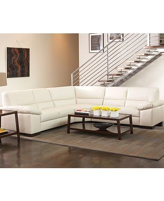 spencer leather sectional sofa 3 left arm facing loveseat