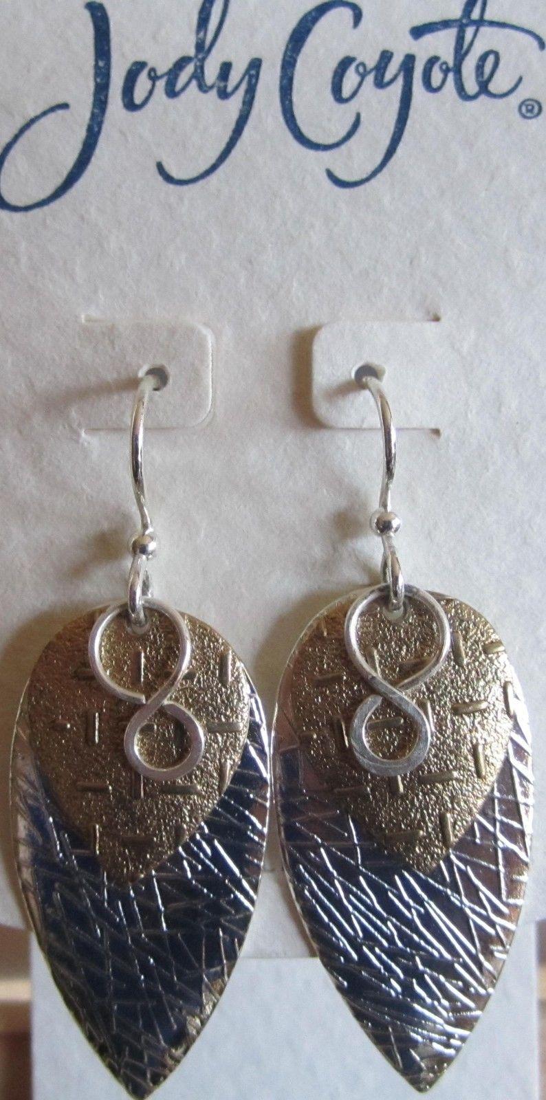 Jody Coyote Earrings Jc0296 Hypoallergenic Green Gold
