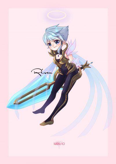 Dawnbringer Riven By Han 10 Hd Wallpaper Background Fan Art Artwork League Of Legends Lol 2