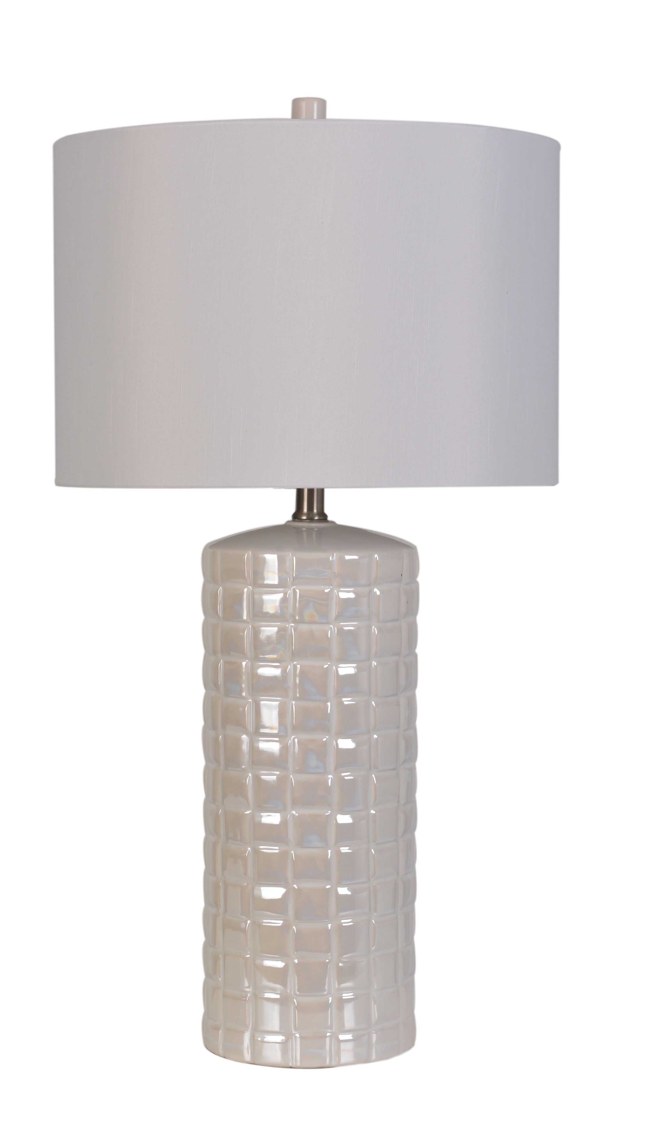 Lps 159 Ceramic Table Lamp With Cream Pearl Glaze Finish By Lamps