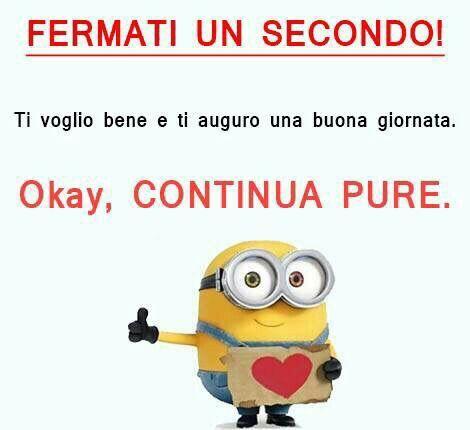 Buongiorno minions frasi dediche friends will be for Buongiorno assonnato