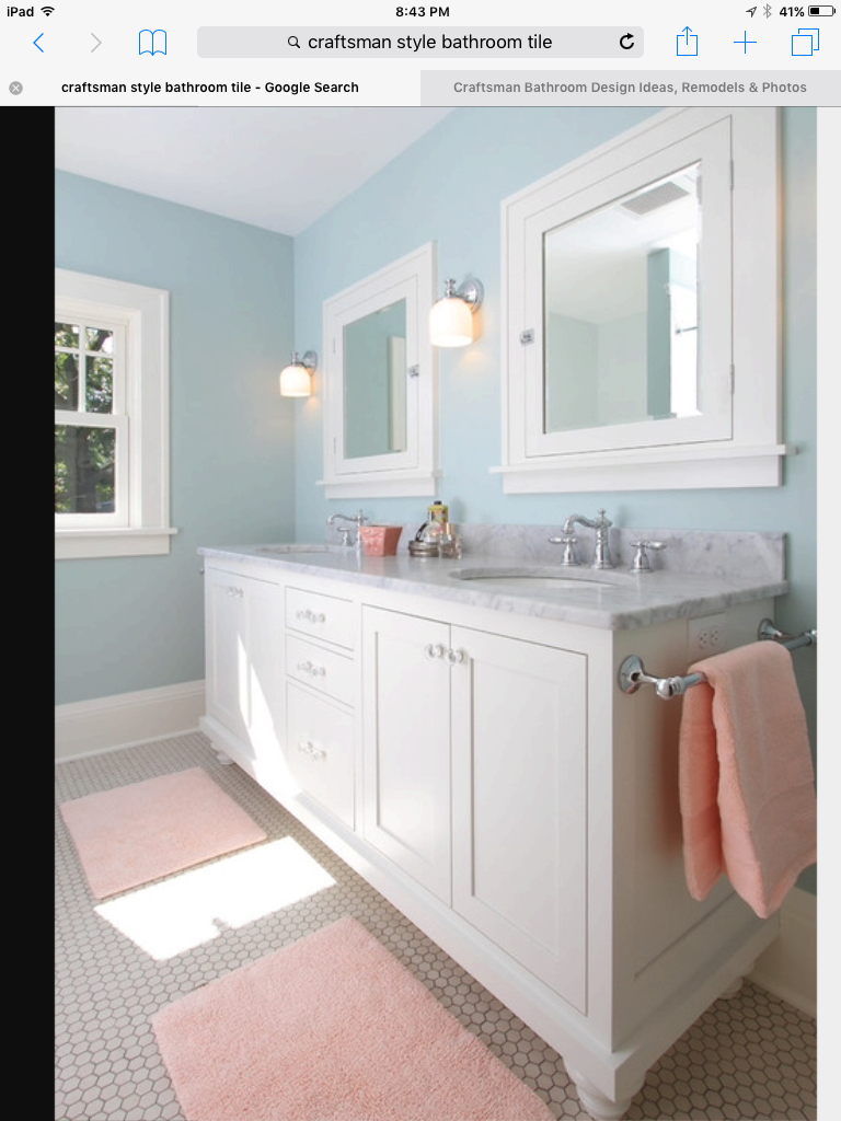 This bathroom! Minus the pink towels :) | #onehouse | Pinterest ...