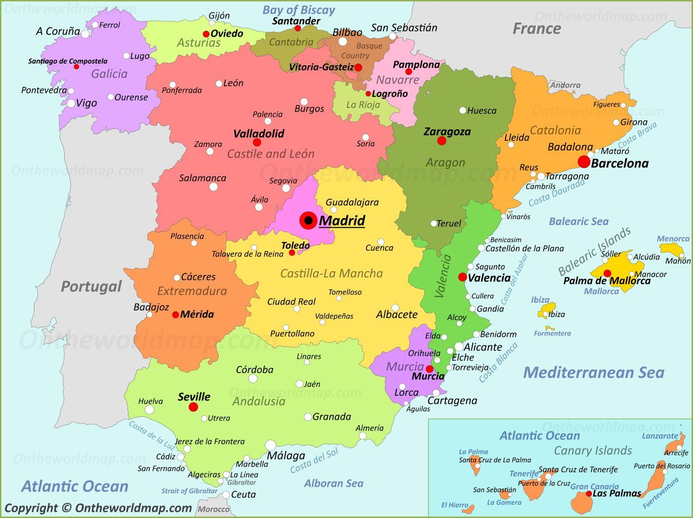 Map Of Spain Google Search Map Of Spain Spain Spain Portugal