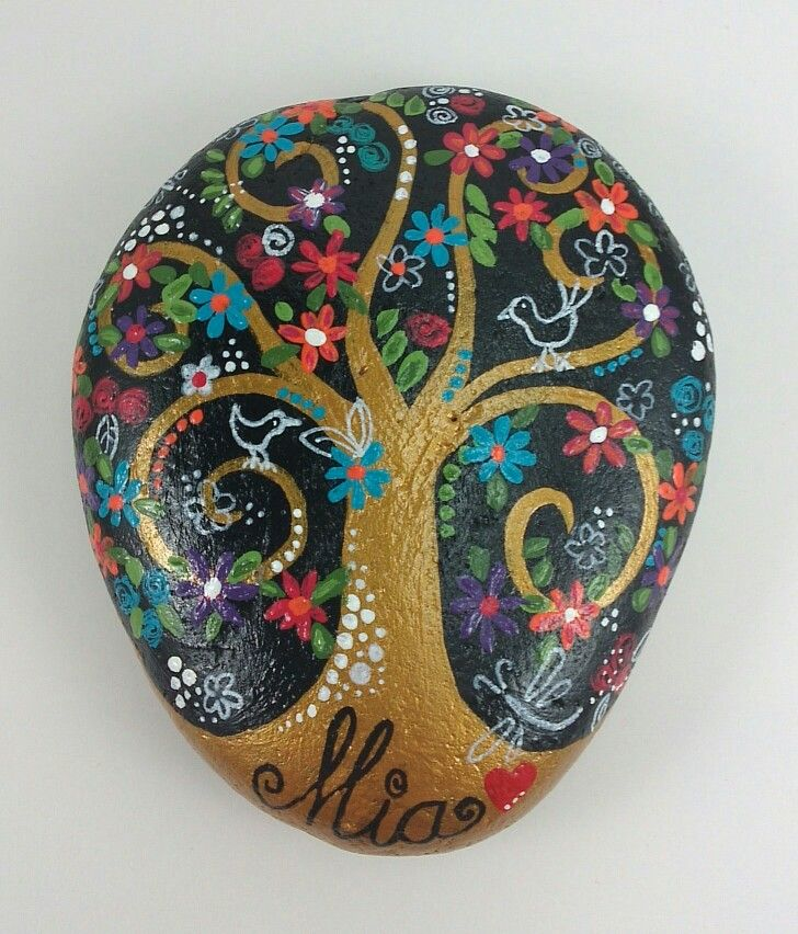 Tree Of Life Rock Art Stone Art Rock Painting Art