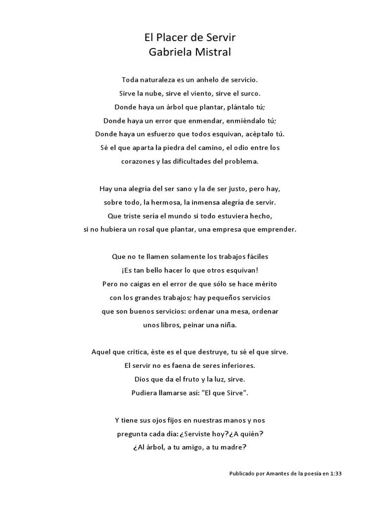 Poema Gabriela Mistral Sobre El Servicio Búsqueda De Google Poemas Gabriel Mistral Frases Celebres