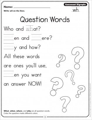Question Words (Consonant Digraphs - wh): Phonics Poetry ...