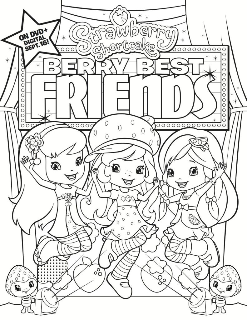 super friends coloring pages. Free Printable Strawberry Shortcake Coloring Page  printable