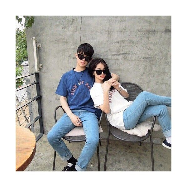 09586a9611 ulzzang couple on Tumblr ❤ liked on Polyvore featuring couples | My ...
