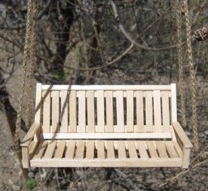 How To Make a Mini Porch Swing