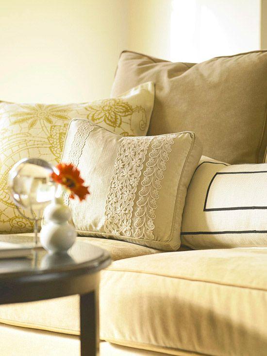 DIY pillows ideas originally from ://.bhg.com/ & Creative Pillow Ideas   Romantic lace Pillows and Romantic pillowsntoast.com