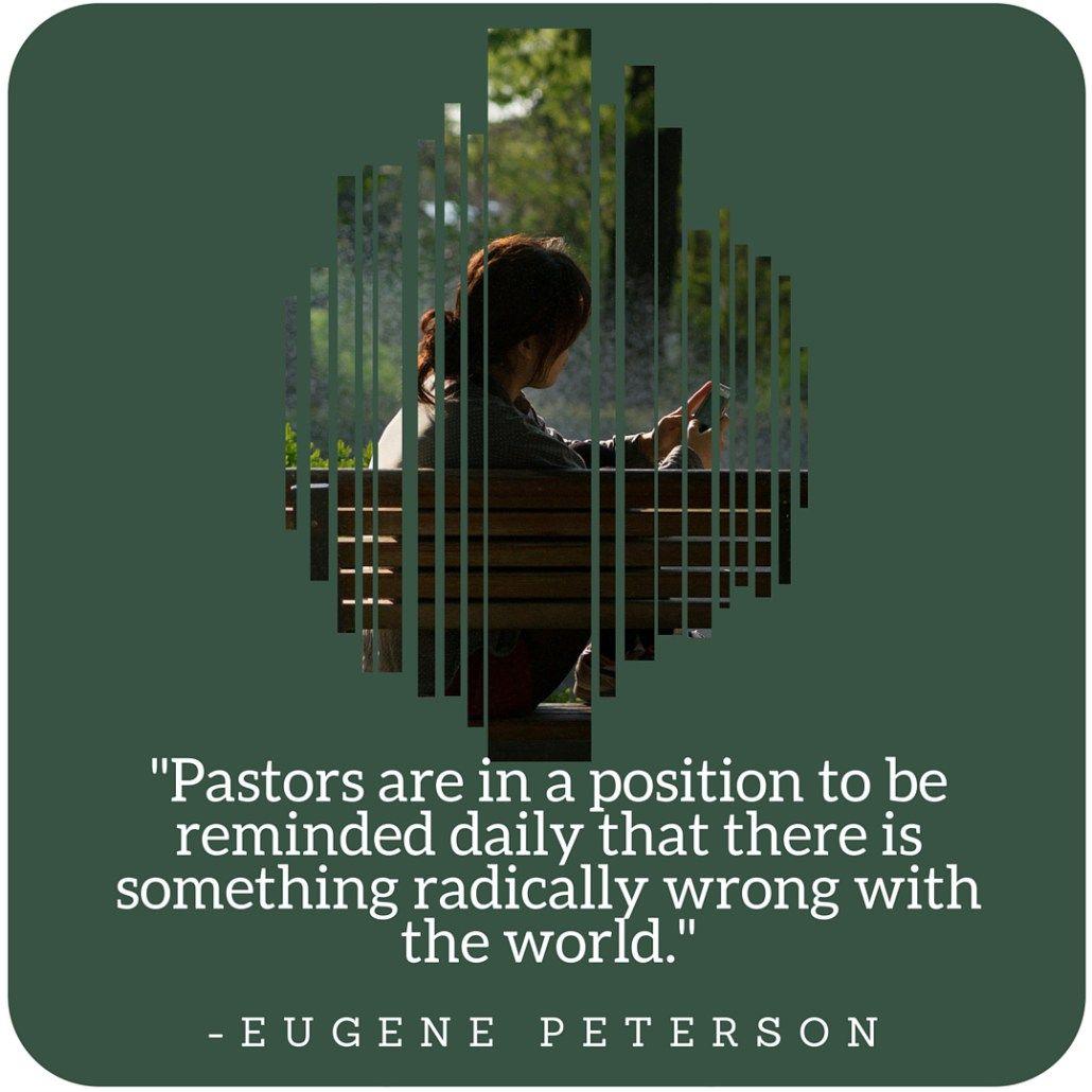 Eugene Peterson daily reminder follow Jesus
