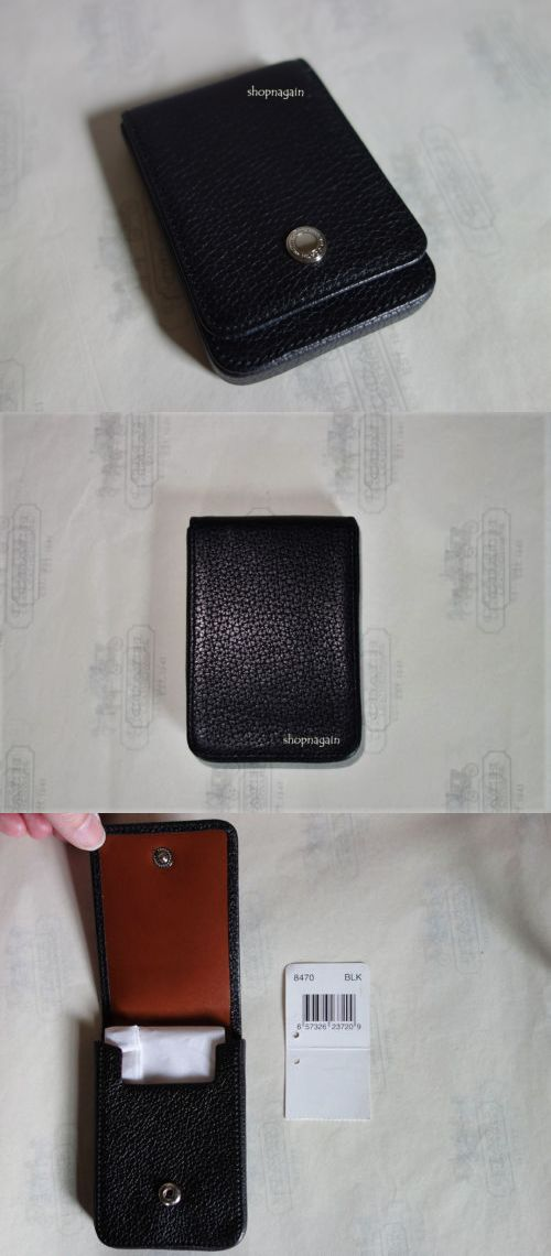 Business and credit card cases 105544 nwt coach black pebbled business and credit card cases 105544 nwt coach black pebbled leather business credit card holder reheart Image collections