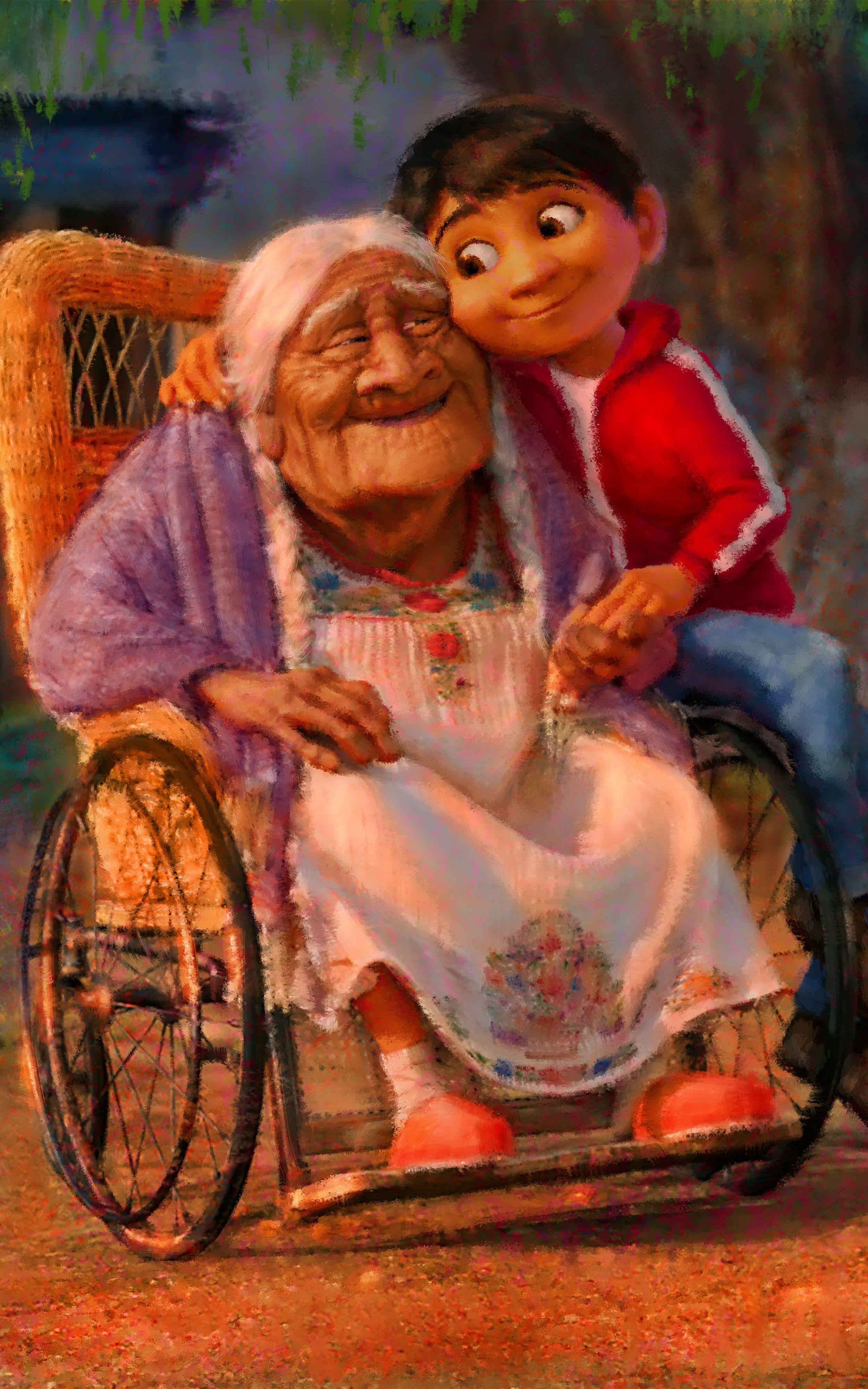 Resultado de imagen para wallpaper de amor a abuelita animados