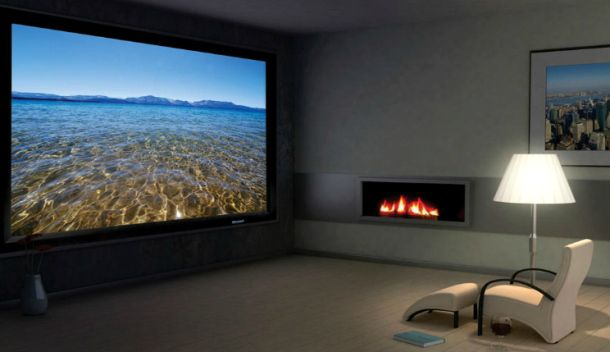 Tv Vs Projection Your Tv Is Too Tiny Tv And Home Theater Cnet Reviews Home Theater Rooms Home Theater Design Best Home Theater