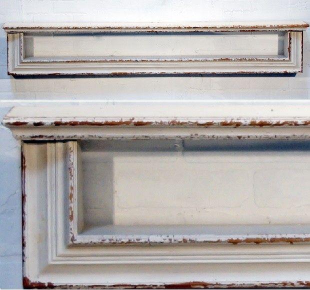 White Distressed Wood Wall Shelf