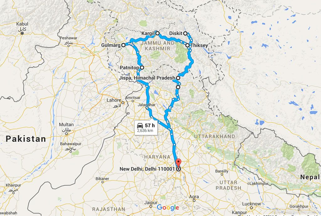Leh ladakh road trip itinerary map travel budget tips and tricks leh ladakh road trip itinerary map gumiabroncs Image collections