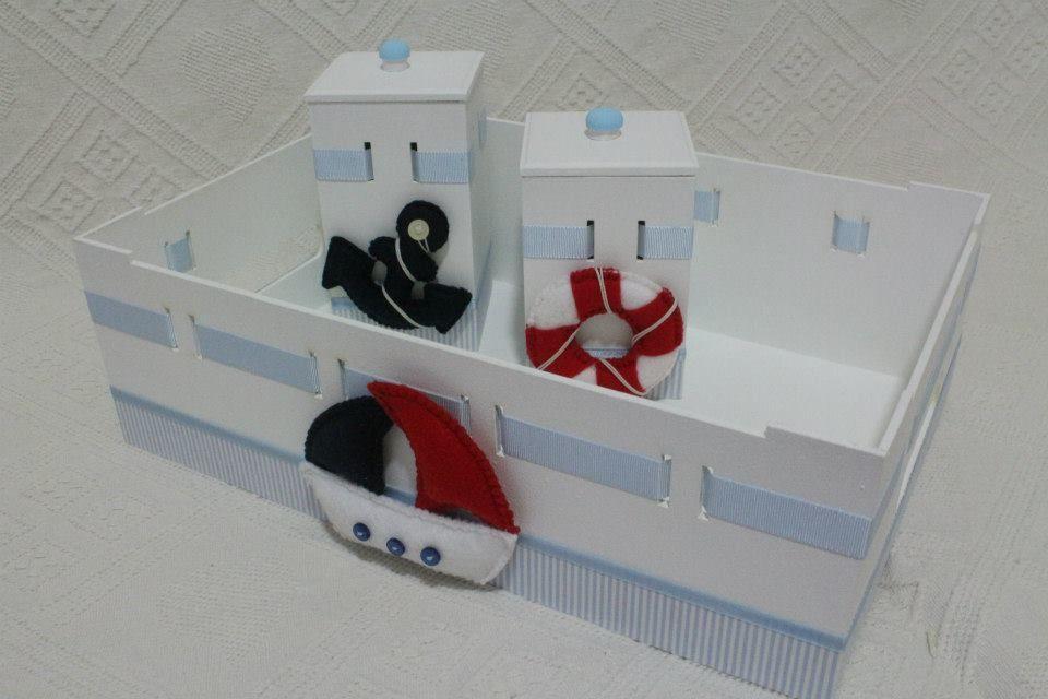 Kit higiene bebê marinheiro. Decoração marinheiro bebê.