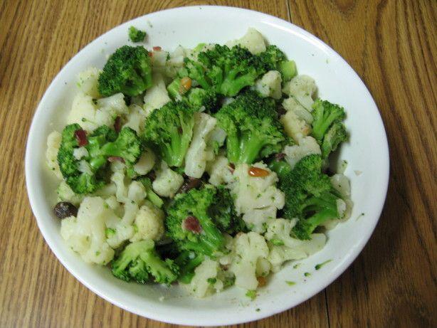 Broccoli And Cauliflower With Pine Nuts And Raisins Recipe - Food.com