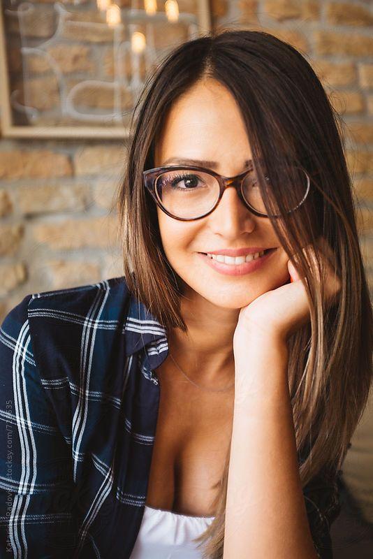 Brunette Milf Blowjob Glasses