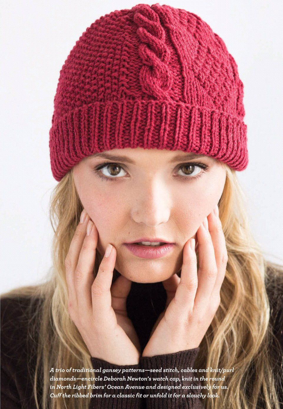 теплые вязаные шапки для женщин схемы