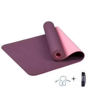 KuuBee - Premium 6mm Reversible Extra Thick Non Slip Exercise & Fitness Mat for All Types of Yoga, Pilates & Floor Workouts (68