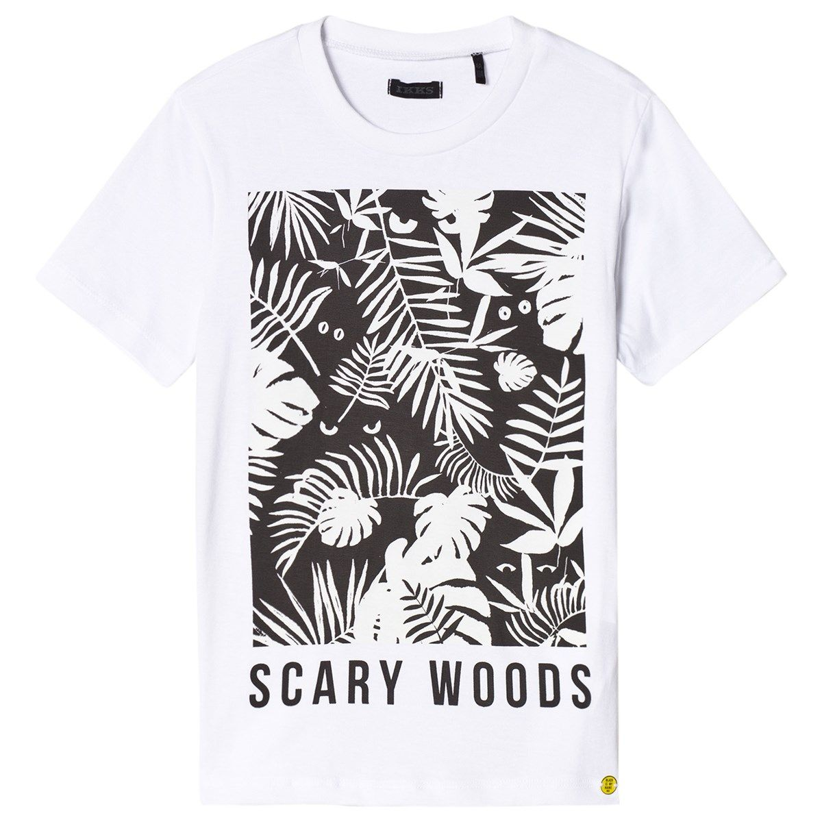 5694af330 IKKS's black and white glow in the dark tee is an innovative addition to a  small wardrobe. With a classic fit, it features a bold print to the front  that ...