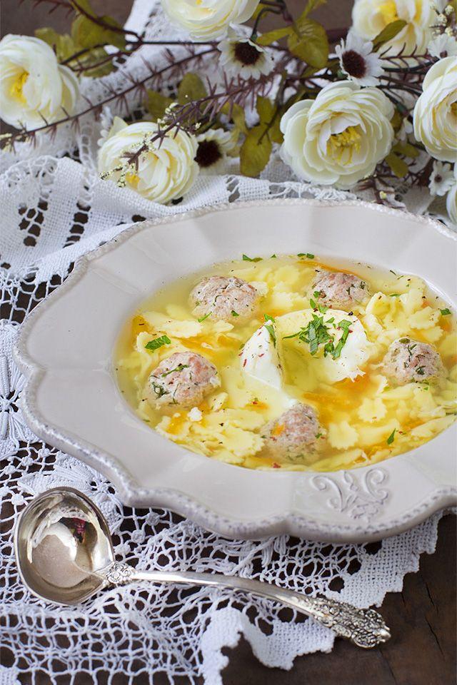 Суп с фрикадельками и яйцом рецепт с фото | Суп с ...