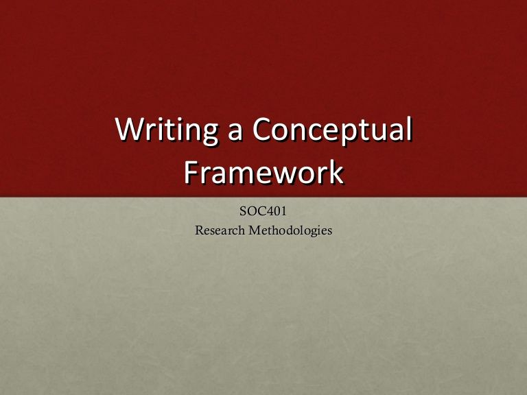how to make conceptual framework in research