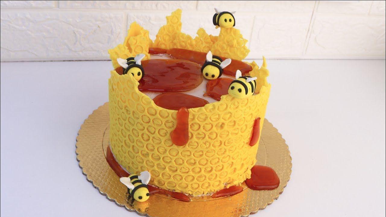 تزيين كيكة خلية النحل Cake Desserts Food