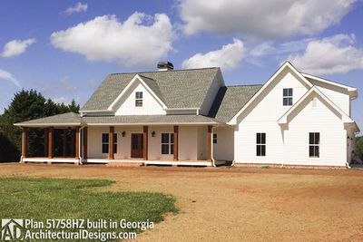 House Plan HZ built with a Wrap around Porch in Georgia