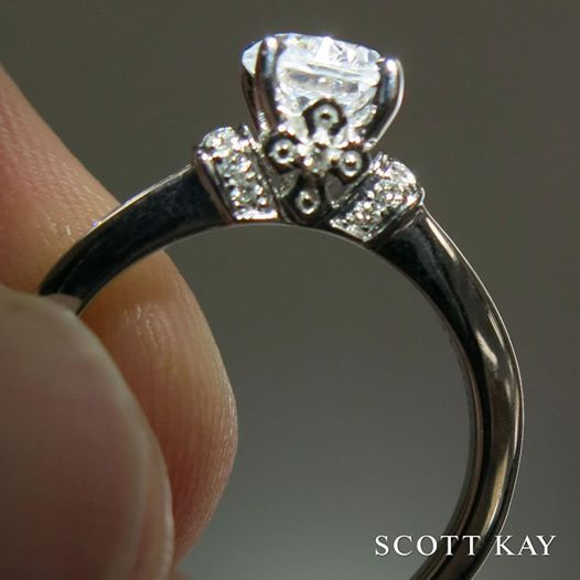 Faith Inspired To Add That Extra Touch This Scott Kay Engagement Ring Kaybeautiful Ringsspiritual Inspirationwedding